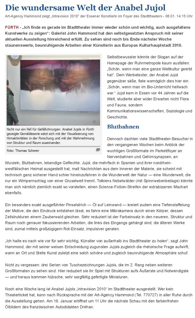 Die wundersame Welt der Anabel Jujol - Fürth - nordbayern.de